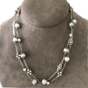 brighton necklace Pearl like And Rhinestones.